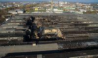 Iš gaisravietės Alytuje išvežtas pirmas krovinys su pavojingomis atliekomis