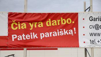 Nedarbo lygis Lietuvojepusmetį nekinta
