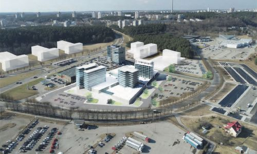 "Šalia ""Litexpo"" centro Vilniuje suplanavo beveik 32.000 kv. m ploto pastatų kompleksą"