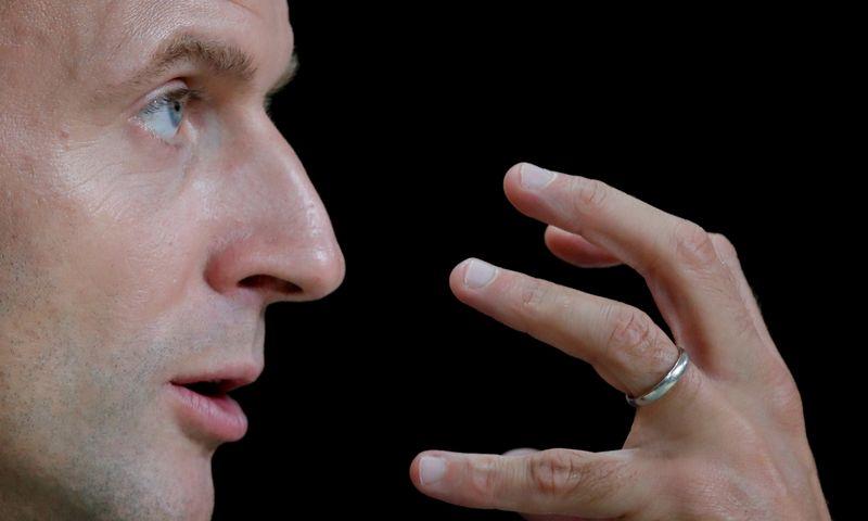 """Prancūzijos prezidentas Emmanuelis Macronas. Charles Platiau (""""Reuters""""/""""Scanpix"""") nuotr."""