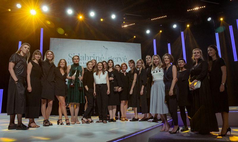 """Moterys Lietuvos kino industrijoje. 2018 m. """"Sidabrinės gervės"""" ceremonija. Audriaus Solomino nuotr."""
