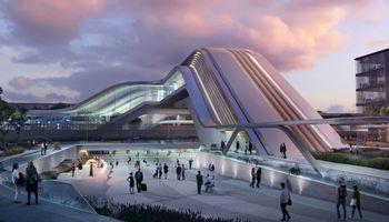 """""""Rail Balticos"""" terminalo Taline architektūrinį konkursą laimėjo """"Zaha Hadid Architects"""" ir """"Esplan"""""""