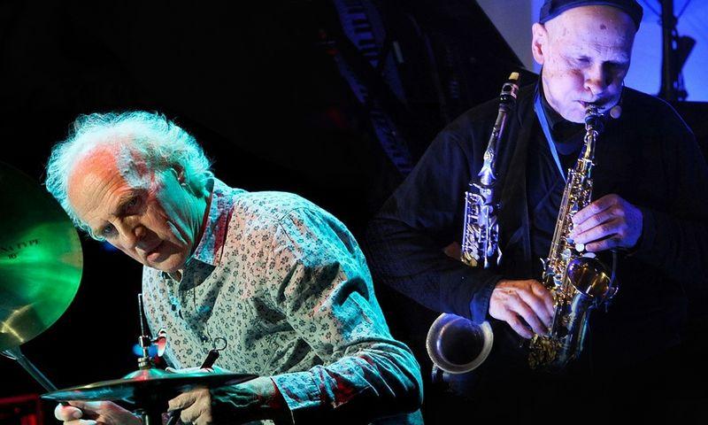 """Vladimiras Tarasovas (mušamieji) ir Vladimiras Čekasinas (saksofonai). """"Vilnius Mama jazz"""" festivalio nuotr."""