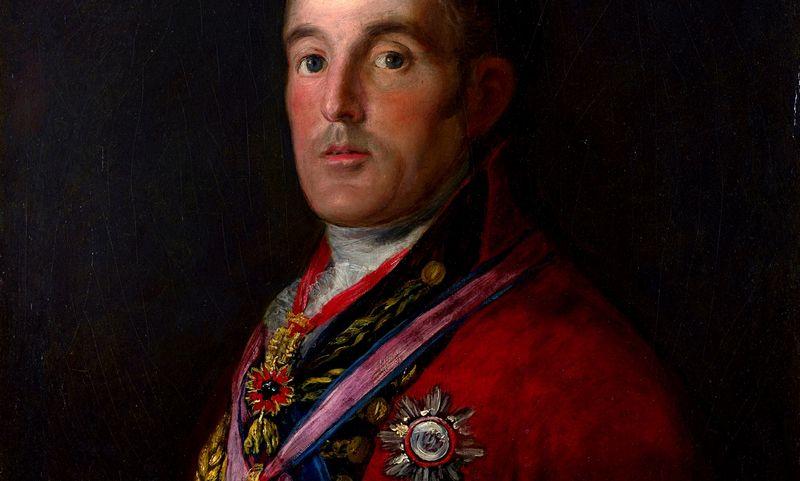 "Didysis Velingtono kunigaikštis Arthuras Weslley'us. Fancisco Goya, tapyta 1812–1814 m. ""wikipedia.com"" nuotr."