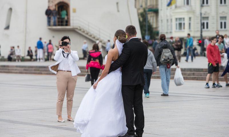 """Lietuvoje per metus įregistruojama 19.000–20.000 santuokų, suskaičiavo """"Foxy Wedding"""" kūrėjai. Juditos Grigelytės (VŽ) nuotr."""