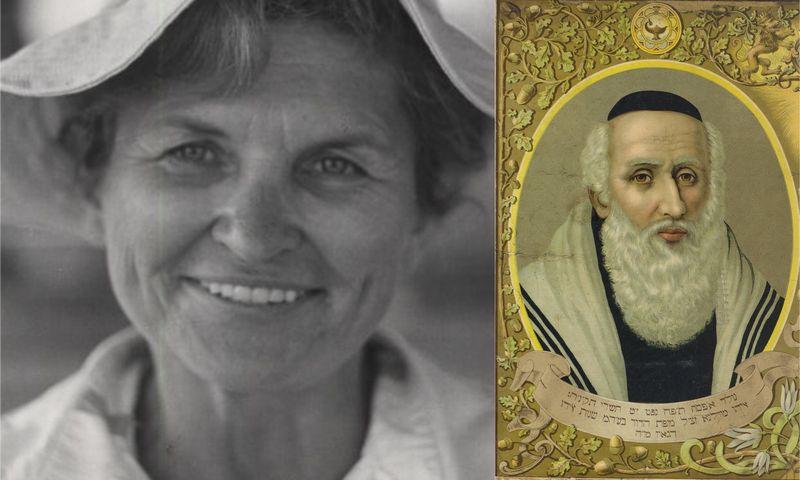 """Prof. dr. Marija Gimbutienė (""""www.alkas.lt"""" nuotr.) ir Vilniaus Gaonas."""