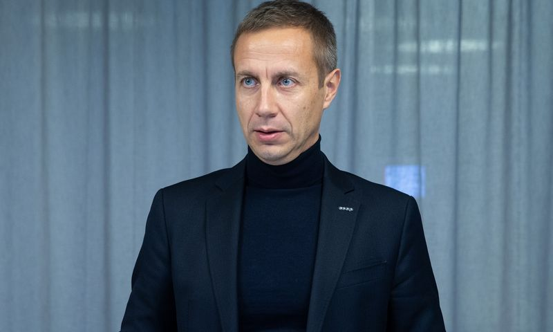 """Margusas Rinkas, kooperatyvų kontroliuojamo banko """"Coop Pank"""" valdybos pirmininkas ir generalinis direktorius. Vladimiro Ivanovo (VŽ) NUOTR."""