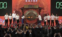 """""""Alibaba"""" debiutavo Honkongo biržoje: akcijos pašoko 6%"""