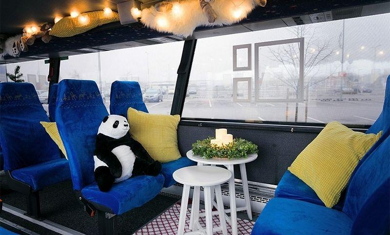 IKEA kalėdinis autobusas. Bendrovės nuotr.