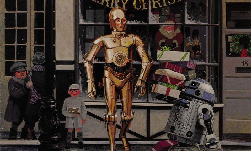 """EMI Elstree Studios kalėdinė atvirutė ir vokas, 1980. Vertinama 100–200 GBP. """"Sotheby's"""" nuotr."""