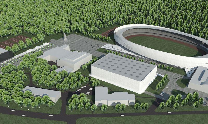 S. Dariaus ir S. Girėno stadiono vizualizacija.