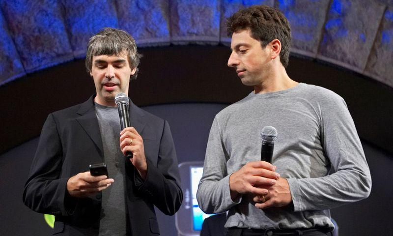"""Larry Page'as (kairėje) ir Sergey Brinas. Jacobas Silberbergas (""""Reuters"""" / """"Scanpix"""") nuotr."""