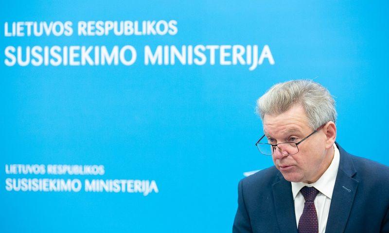 Susisiekimo ministras J. Narkevičius. Žygimanto Gedvilos (15min.lt/Scanpix) nuotr.