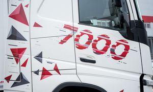 """""""GirtekaLogistics"""" transporto parkas pasiekė 7.000 vilkikų, jame dominuoja """"Volvo"""""""