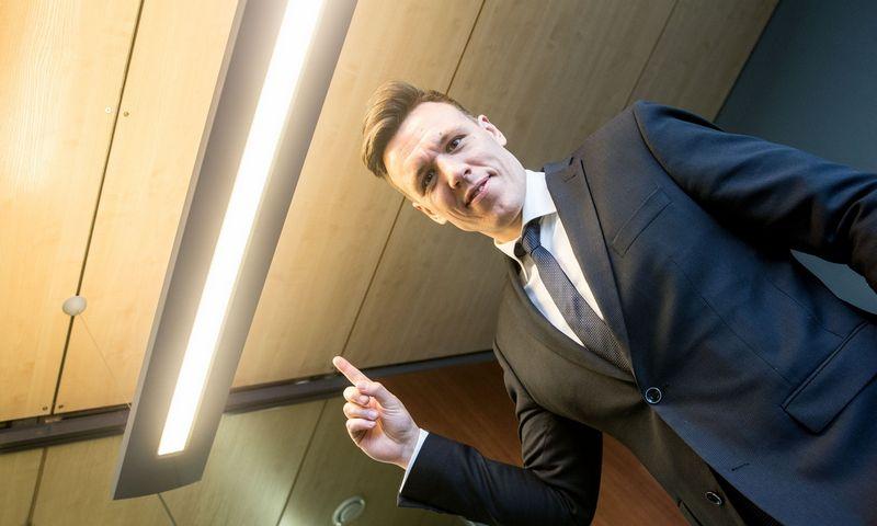 """Martynas Giga, nepriklausomos elektros energijos tiekėjos UAB """"Elektrum Lietuva"""" direktorius. Juditos Grigelytės (VŽ) nuotr."""