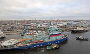 """Rusija išbandė naujos kartos atominį ledlaužį""""Arktika"""""""