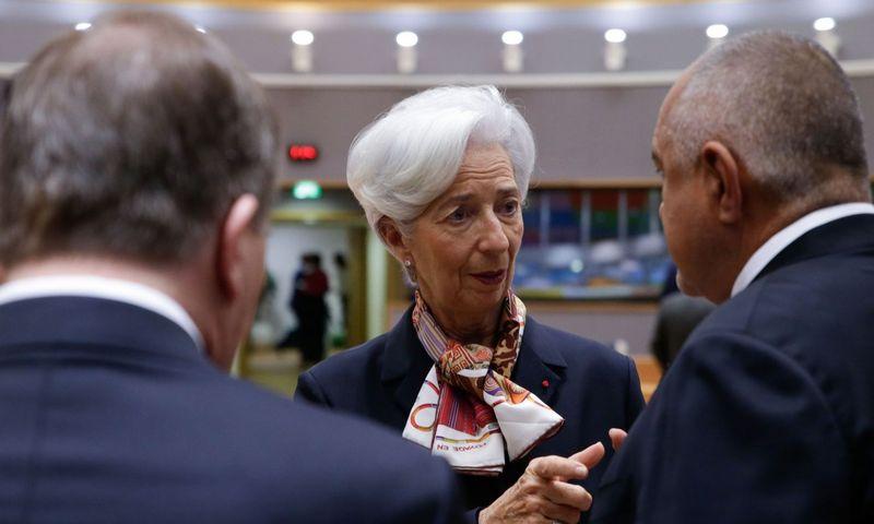 "ECB prezidentė Christine Lagarde. Aris Oikonomou (AFP / ""Scanpix"") nuotr."