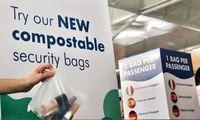 Oro uostas testuoja bioskaidžius maišeliusskysčiams vežtis