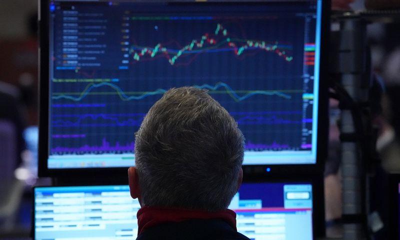 """Indeksas """"Dow Jones Industrial Average"""" šiemet rekordus viršijo daugiau nei 15 kartų. Bryano Smitho / Zumapress.com nuotr."""