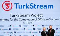 """Bulgarija rusiškų dujų tiekimui pasirinko Rusijos ir Turkijos dujotiekį """"TurkStream"""""""