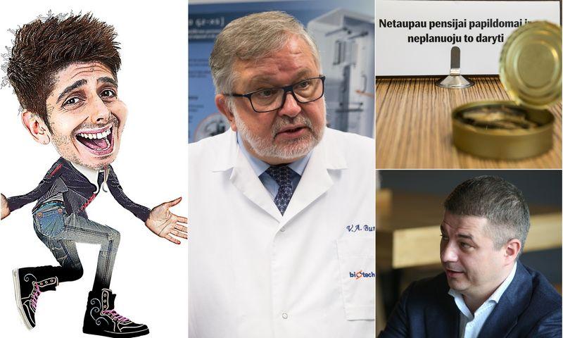 """VŽ montažas. Investuotojas Lukas, Vladas Algirdas Bumelis, nepriklausomas UAB """"Biotechpharma"""" valdybos narys, Gediminas Žiemelis, """"Avia Solutions Group"""" valdybos pirmininkas."""
