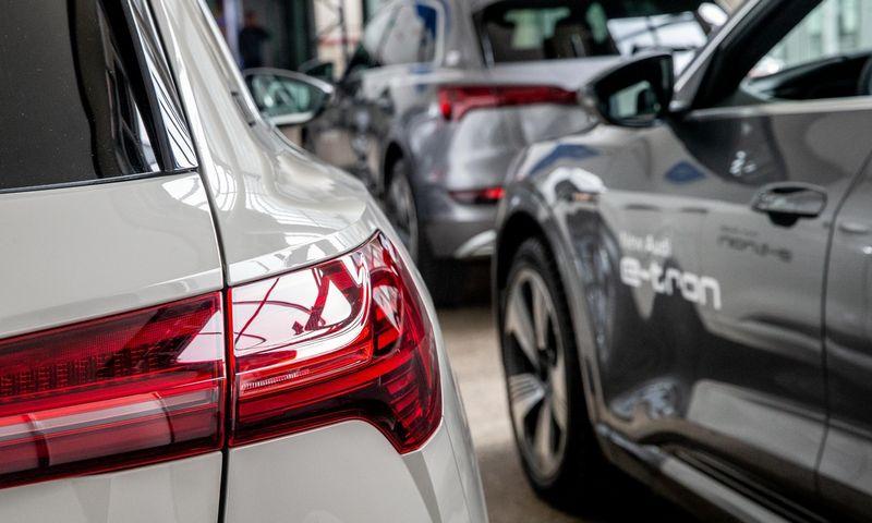 """Naujas automobilis Audi """"e-tron"""". Juditos Grigelytės (VŽ) nuotr."""