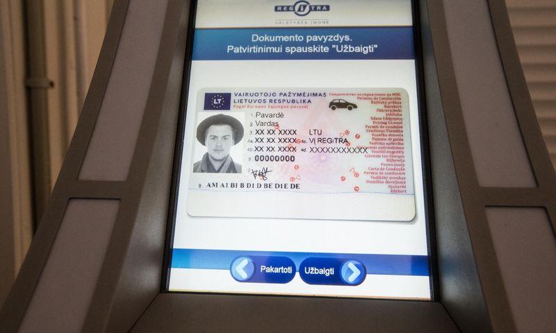 """""""Regitra"""" nuo šiol išduos ir tarptautinius vairuotojo pažymėjimus. Juditos Grigelytės (VŽ) nuotr."""