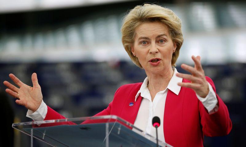 "Ursula von der Leyen, Europos Komisijos pirmininkė. Vincento Kesslerio (""Reuters"" / ""Scanpix"") nuotr."