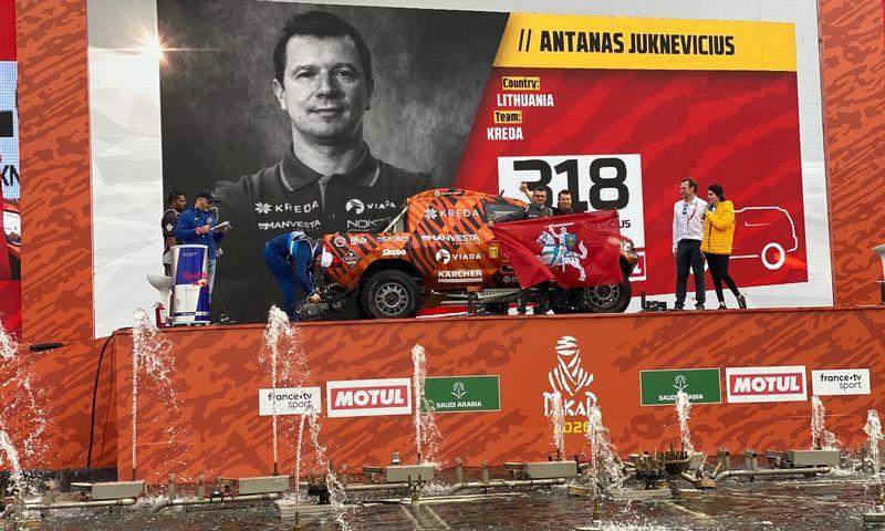 Antanas Juknevičius ir Darius Vaičiulis. www.dakaras.lt nuotr.