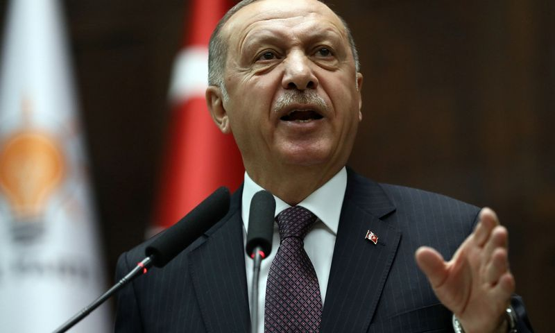"Turkijos prezidentas R. T. Erdoganas. Ademo Altano (AFP / ""Scanpix"") nuotr."