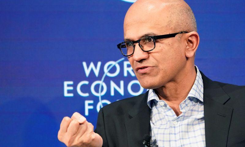 """Satyą Nadellą, """"Microsoft"""" generalinį direktorių, """"Financial Times"""" paskelbė 2019-ųjų Metų žmogumi. Denis Balibouse'o (""""Reuters"""" / """"Scanpix"""") nuotr."""