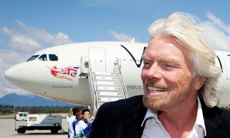 """Seras Richardas Bransonas, milijardierius, verslo grupės """"Virgin Group"""" įkūrėjas. """"Scanpix"""" nuotr."""