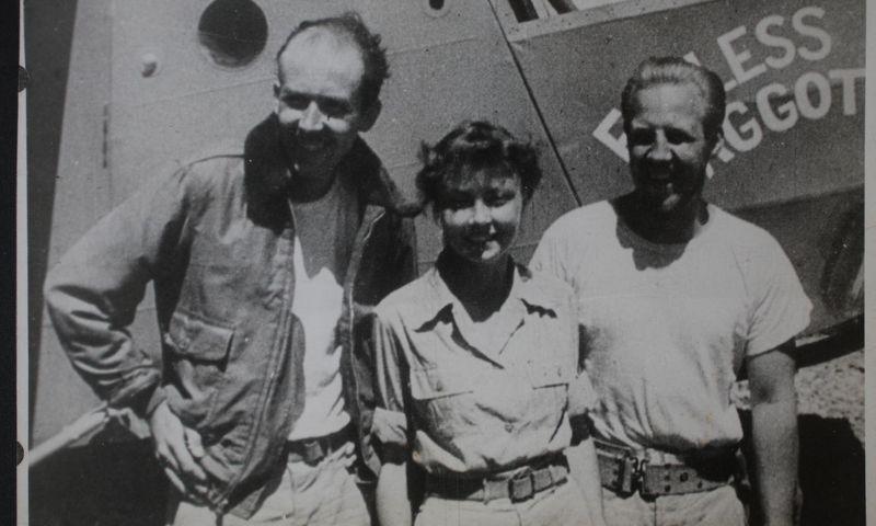 Išgyvenę katastrofą. Iš kairės – Kenas Deckeris, Margaret Hastings ir Johnas  McCollomas. npr.org nuotr.