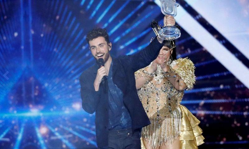 """64-ojo tarptautinio """"Eurovizijos"""" dainų konkurso laurų vainiką pernai užsidėjo Nyderlandų atlikėjas Duncanas Laurence.  """"Scanpix"""" nuotr."""