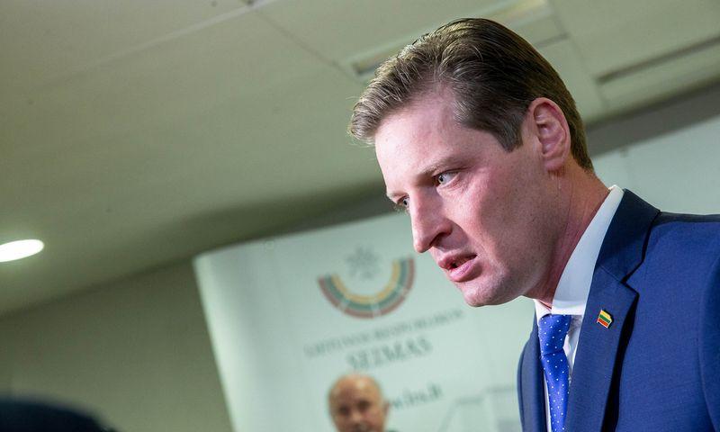 Aplinkos ministras Kęstutis Mažeika. Juditos Grigelytės (VŽ) nuotr.
