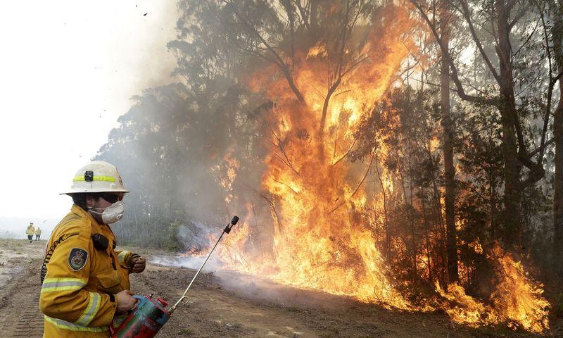 """Neabejojama, jog tokius stiprius gaisrus Australijoje lėmė klimato atšilimas. Ricko Rycrofto (AP / """"Scanpix"""") nuotr."""