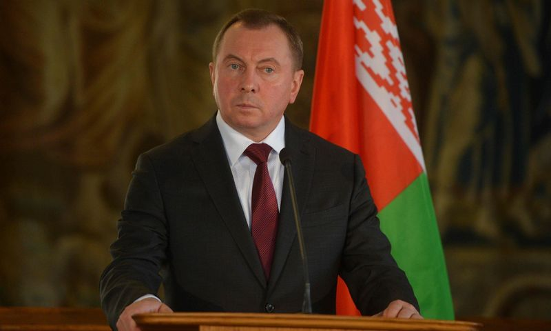 """Baltarusijos užsienio reikalų ministras Vladimiras Makėjus. Michalo Cizeko (AFP / """"Scanpix"""") nuotr."""