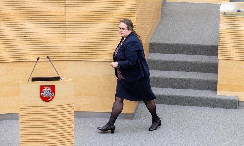 Agnė Širinskienė, Seimo teisės ir teisėsaugos komiteto pirmininkė. Juditos Grigelytės (VŽ) nuotr.