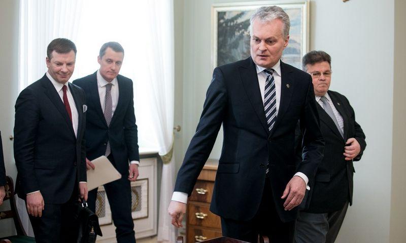 Prezidentas Gitanas Nausėda kelis ministrus pasikvietė pasikalbėti apie derybas dėl ES daugiametės finansinės perspektyvos. Juliaus Kalinsko (15min.lt/Scanpix) nuotr.