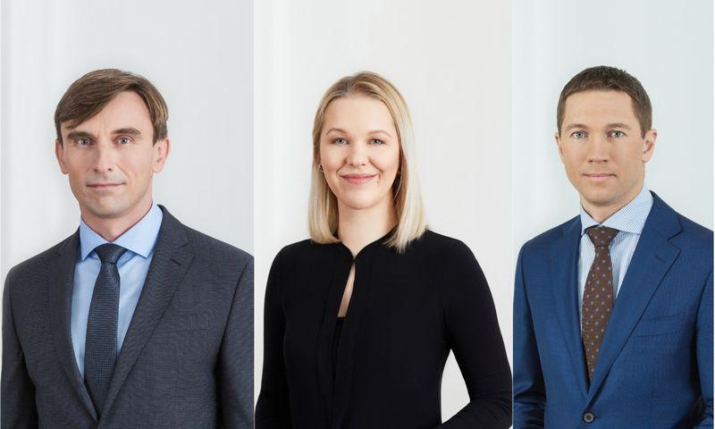 Iš kairės: Vydmantas Grigoravičius, Eva Suduiko, Artūras Kojala.Įmonės nuotr.