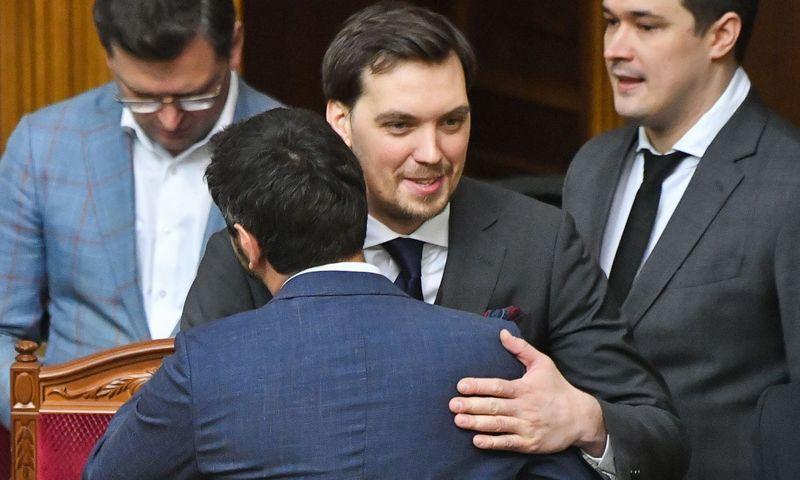 """Oleksijus Hončarukas, Ukrainos premjeras. Sergejaus Supinskio (AFP / """"Scanpix"""") nuotr."""