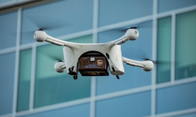 """""""UPS Flight Forward"""" dronas su gabenamais medikamentais. Bendrovės nuotr."""