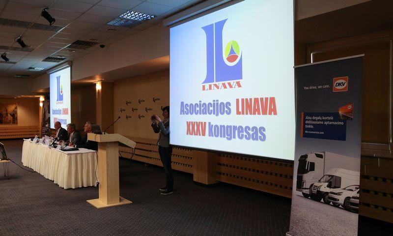 """Lietuvos nacionalinės vežėjų automobiliais asociacijos """"Linava"""" kongresas. Vladimiro Ivanovo (VŽ) nuotr."""