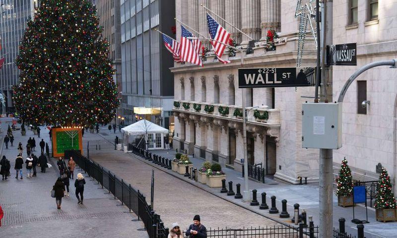 """JAV ekonomikai prognozuojamas lėtėjimas. Spencer Platt (""""Getty Images"""" / AFP / """"Scanpix"""") nuotr."""