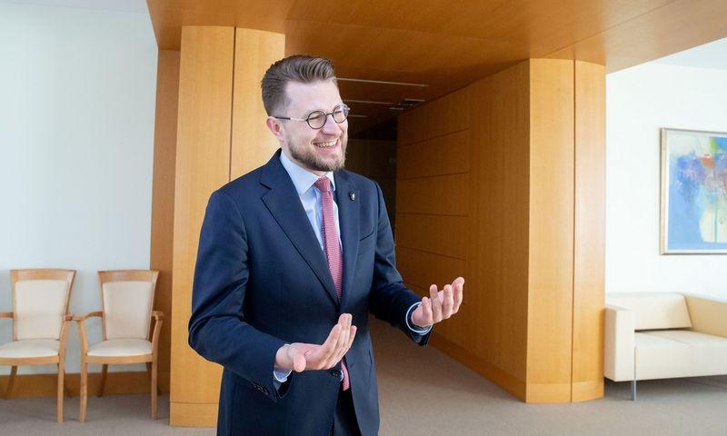 Lukas Savickas, kandidatas į ekonomikos ir inovacijų ministrus. Juditos Grigelytės (VŽ) nuotr.