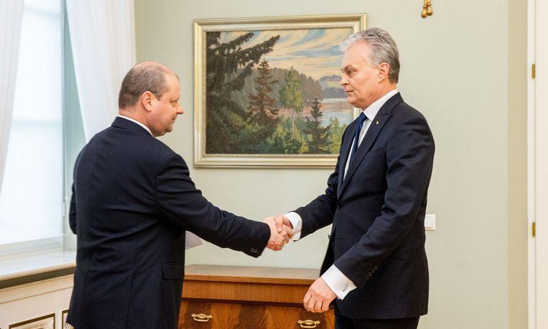 Premjeras Saulius Skvernelis susitiko su prezidentu Gitanu Nausėda. Juditos Grigelytės (VŽ) nuotr.