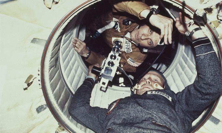 Iliustruotoji istorija:rusų pilotas, užkariavęs kosmosą