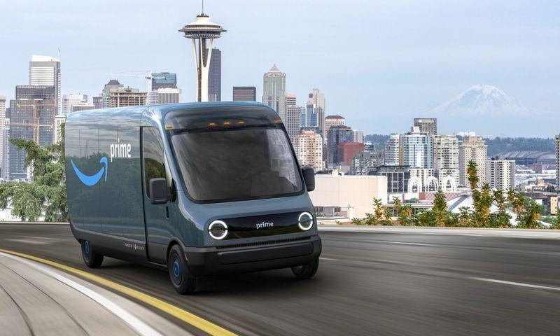 """Tokius """"Rivian"""" elektrinius furgonus ketina pirkti """"Amazon"""". Bendrovės nuotr."""