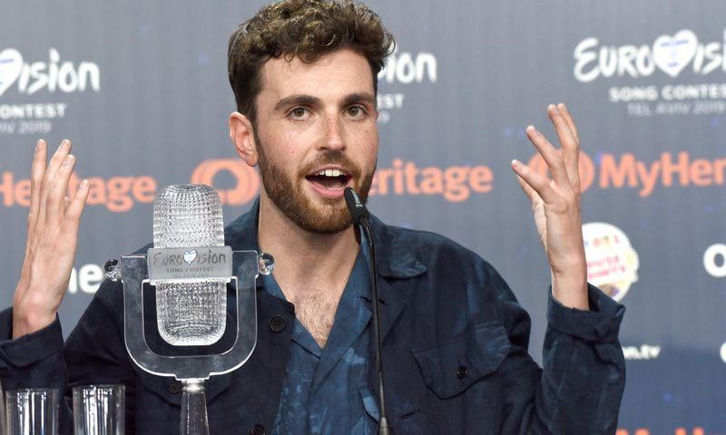 """Nyderlandų atstovas Duncanas Laurence, 2019-ųjų """"Eurovizijos"""" nugalėtojas. CAP/PER/EN (""""Scanpix"""") nuotr."""