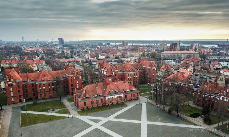 """Klaipėdos universitetas. """"Dronograma"""" įrašo nuotr."""